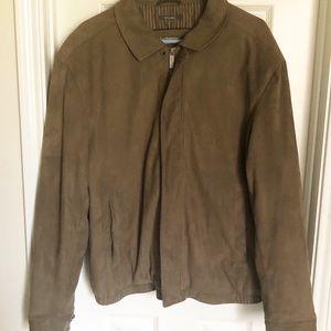 Perry Ellis  Men'Micro suede   jacket Size large